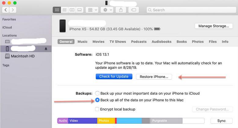 update iPhone software offline