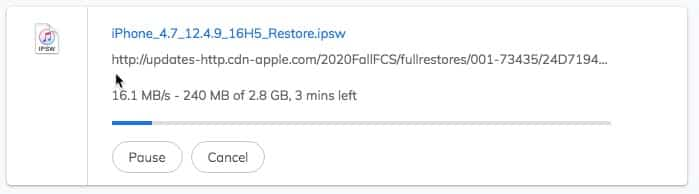 download iOS 12.4.9 ipsw firmware