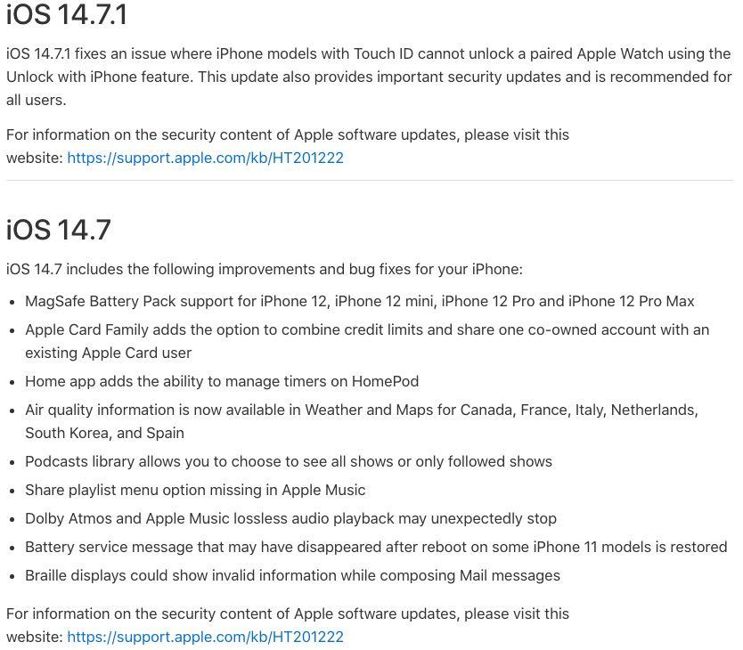 iOS 14.7 ipsw download