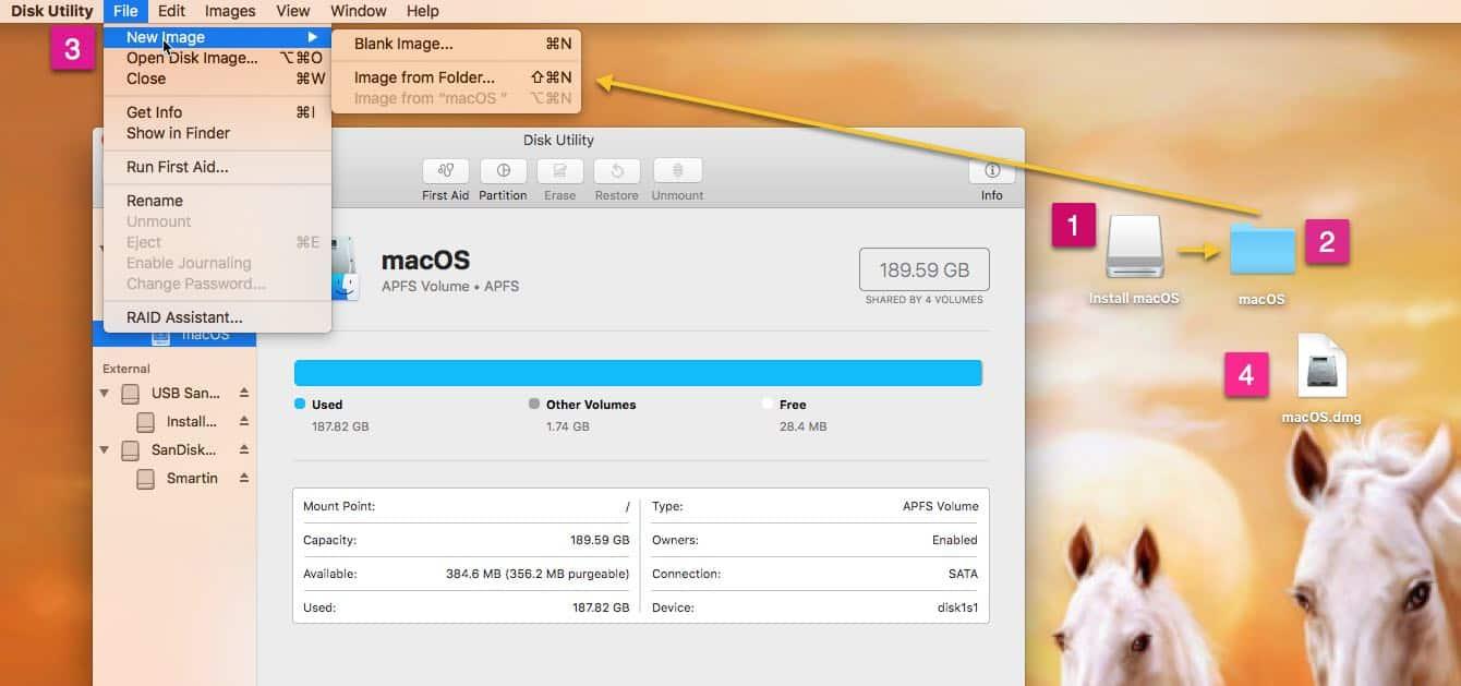 Convert Install macOS installer app to DMG