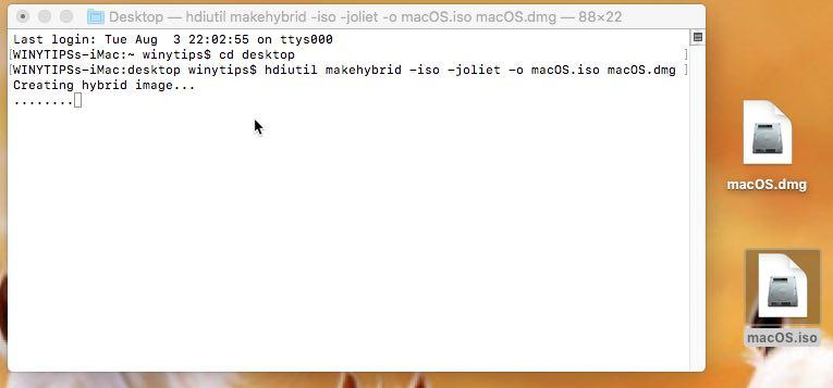 convert macOS installer to ISO