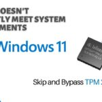 Skip Bypass this PC doesn't currently meet all Windows 11 system requirements